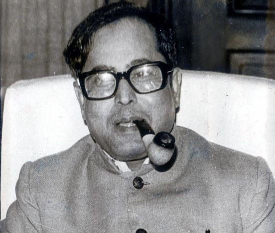 Pranab Mukherjee, often seen with his pipe, as a minister in Indira Gandhi's Cabinet