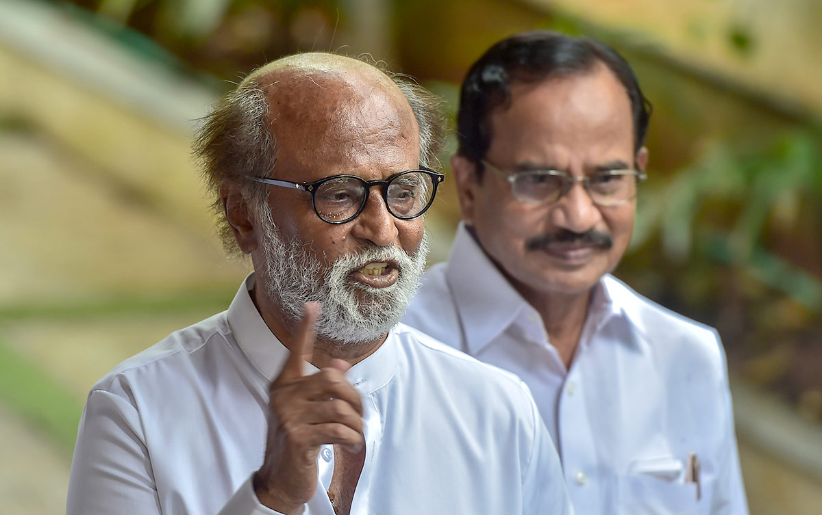 Rajini scraps political plans after 'warning from god'