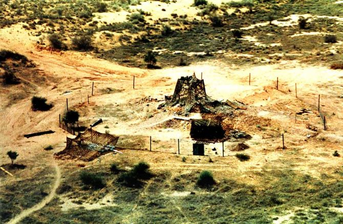 Nuclear blast at Pokhran