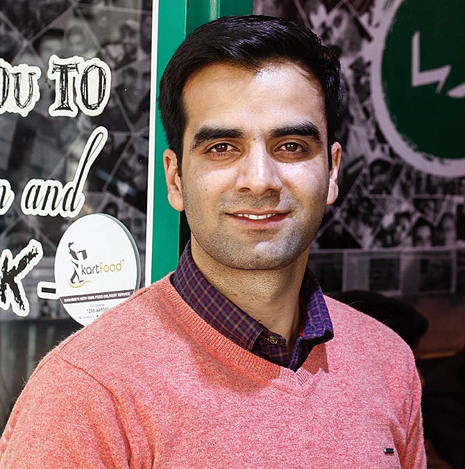 Javid Parsa at his flagship outlet in Srinagar