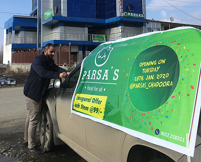For a business which got 50% business through online promotions, Parsa's going back to traditional tools for reaching customers due to 4G and social media ban
