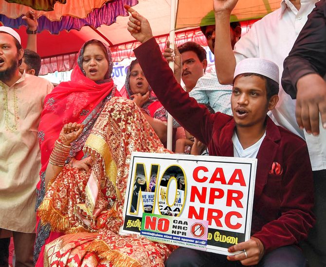 Chennai couple gets married at anti-CAA protest venue