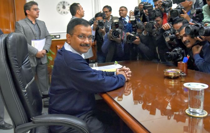 Arvind Kejriwal takes charge as Delhi CM