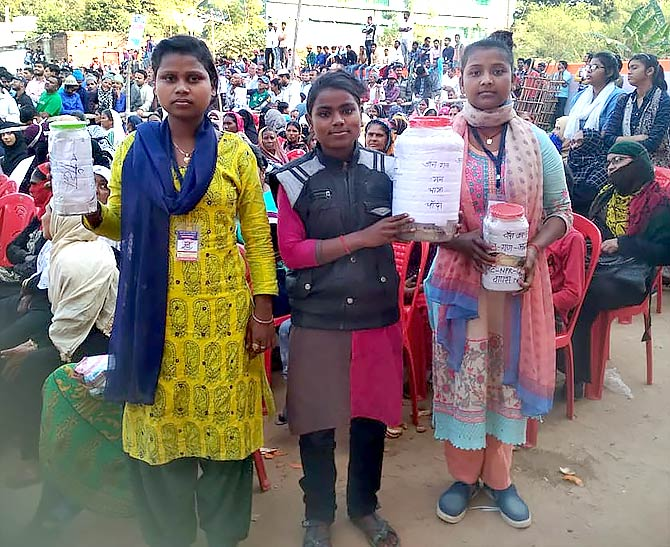 Nitu, Nandini and Priyanka are amongst the youngest in the yatra.