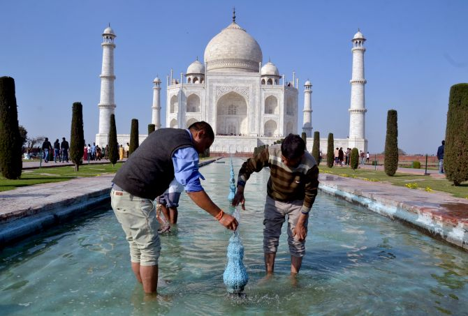 Taj Mahal gets a makeover ahead of Trump's visit