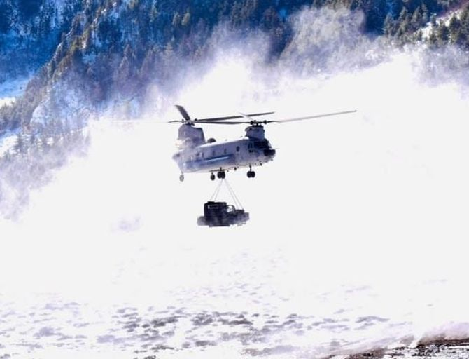 PHOTOS: IAF's Chinook begins operations in Siachen