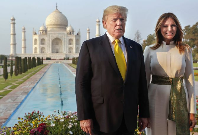 In visitors' book, Trump calls Taj 'awe-inspiring'