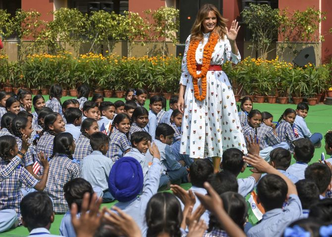 How big is the US? Is it far? Students ask Melania