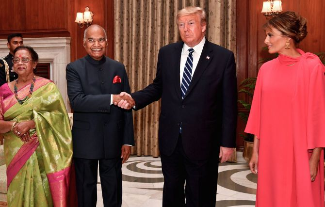 What was on the menu for Trumps at Raisina Hill