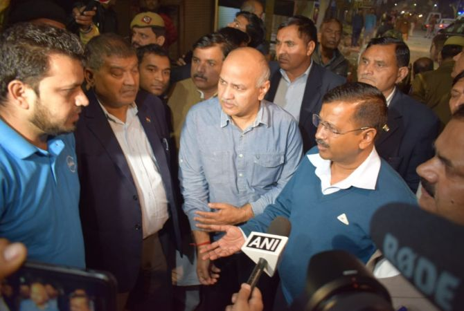 Kejriwal visits riot-hit areas, blame outsiders