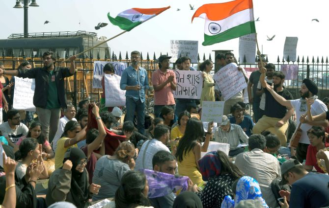 Sushant Singh, Umar Khalid booked for Gateway protest