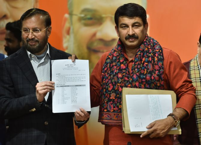 BJP releases list of 57 candidates for Delhi polls
