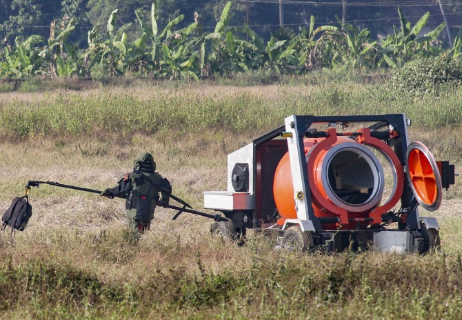 'Live' bomb found at Mangaluru airport, defused