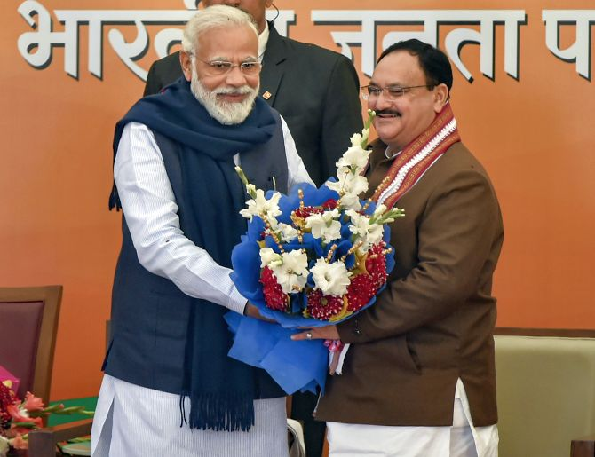 JP Nadda elected BJP president unopposed