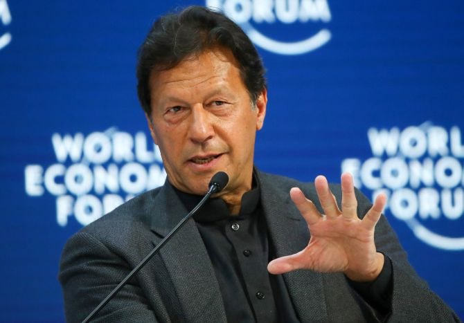 At WEF, Imran talks of normalising ties with India
