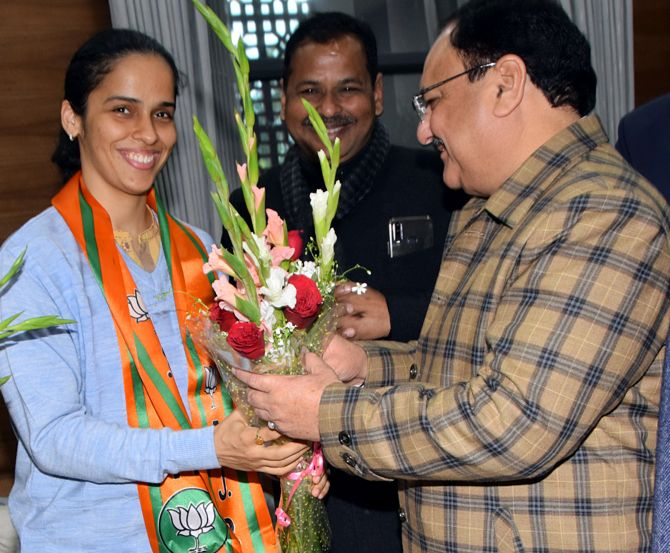 Badminton ace Saina Nehwal joins BJP, hails Modi