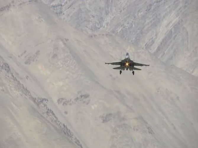 IAF carries out night time patrol in eastern Ladakh