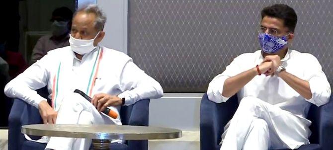 Even Rajiv spoke good English: Rebel MLA to Gehlot