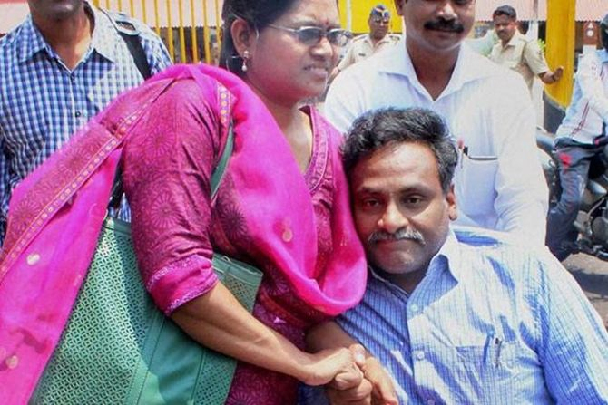 90% disabled Saibaba, covid positive, still in jail