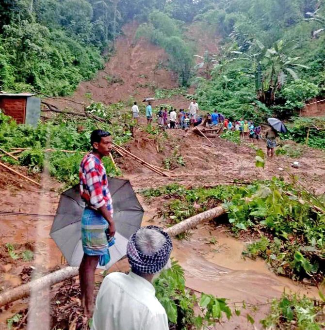 19 killed in landslides in Assam