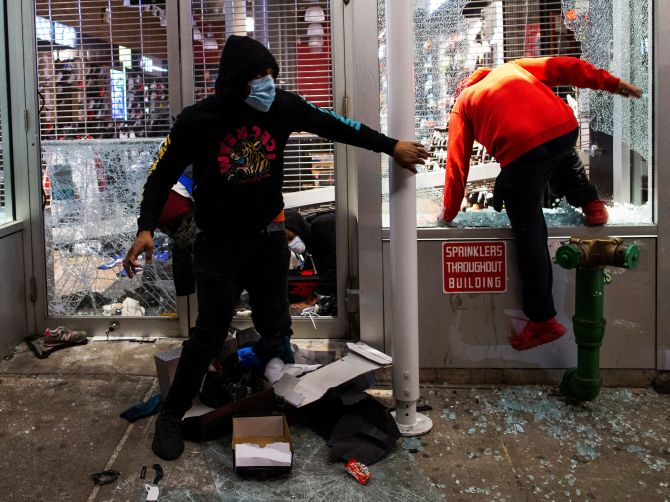 NYC under curfew as protesters go on rampage