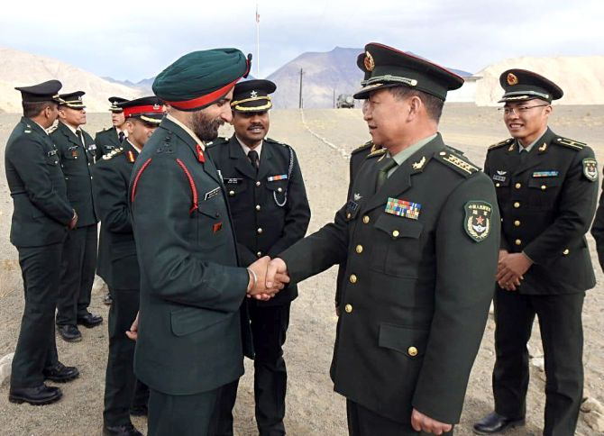 India, China corps commanders hold talks for 12 hours - Rediff.com ...