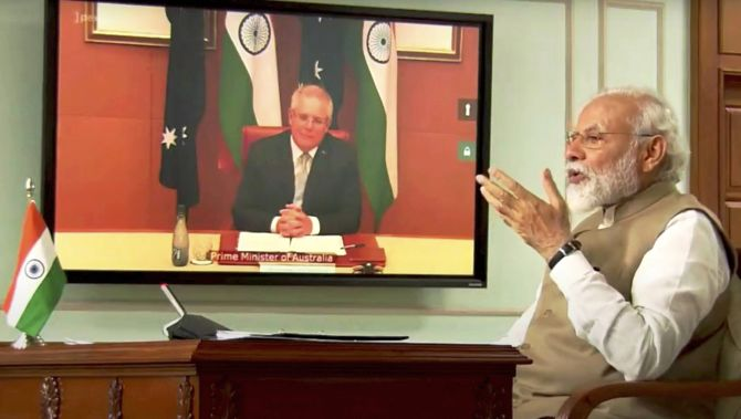 PM Modi holds virtual summit with Aussie counterpart