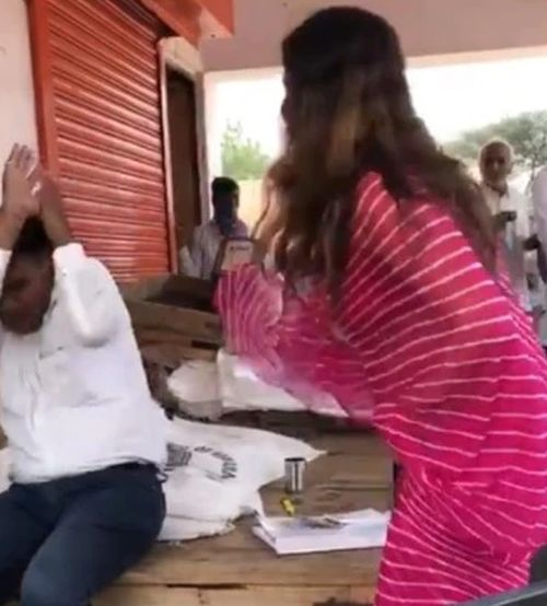 SEE: BJP leader caught on camera slapping official