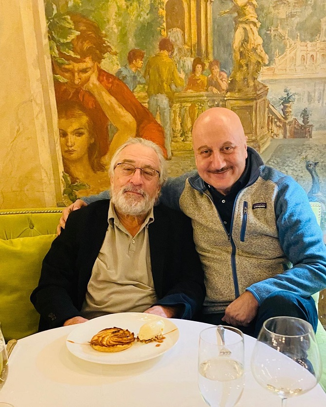 Anupam Kher with Robert de Niro