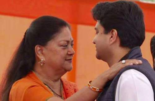 Good to be on same team: Raje welcomes newphew to BJP