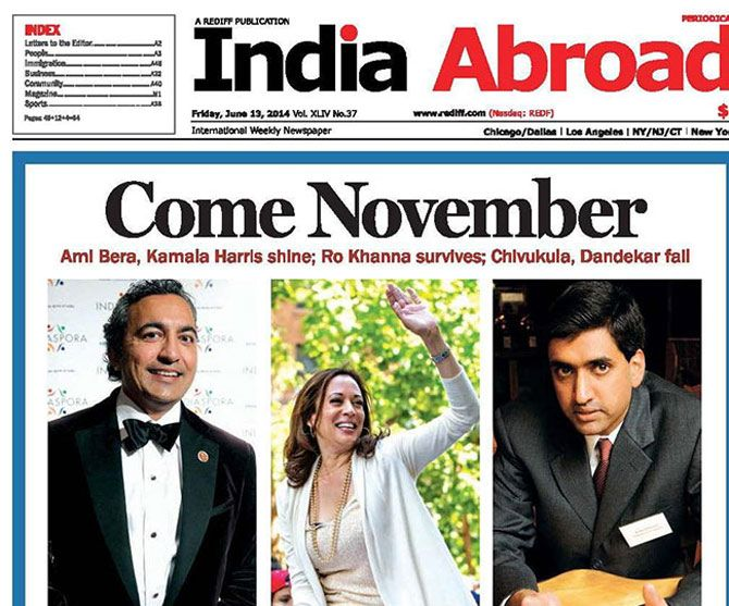 India Abroad, the oldest Indian-American newspaper, which Rediff.com owned from April 2001 to September 2016.