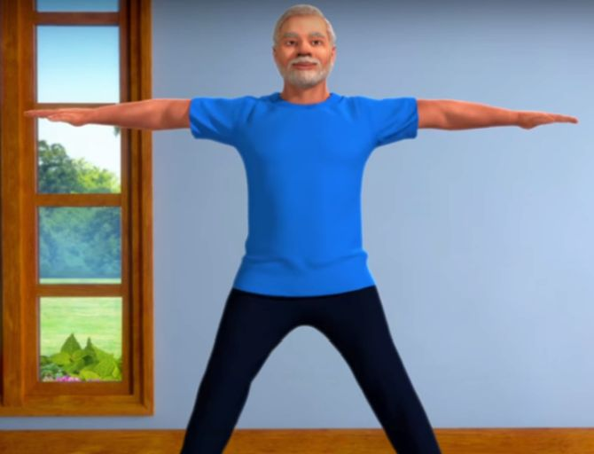 Practice yoga with PM Modi during lockdown