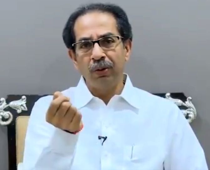 Uddhav lashes out at political opponents