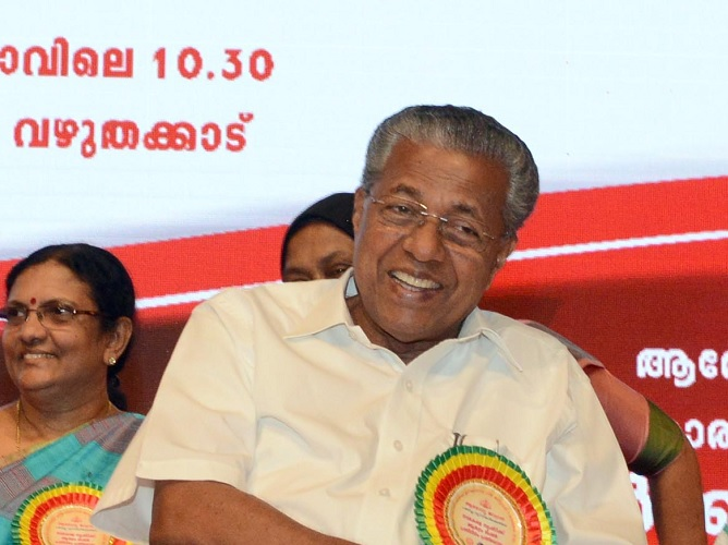Kerala chief minister Pinarayi Vijayan. Photograph: Kind courtesy keralacm.gov.in