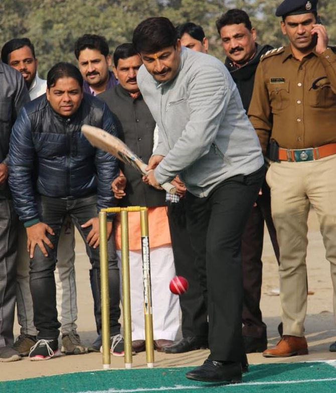 BJP's Manoj Tiwari goes to Haryana for playing cricket