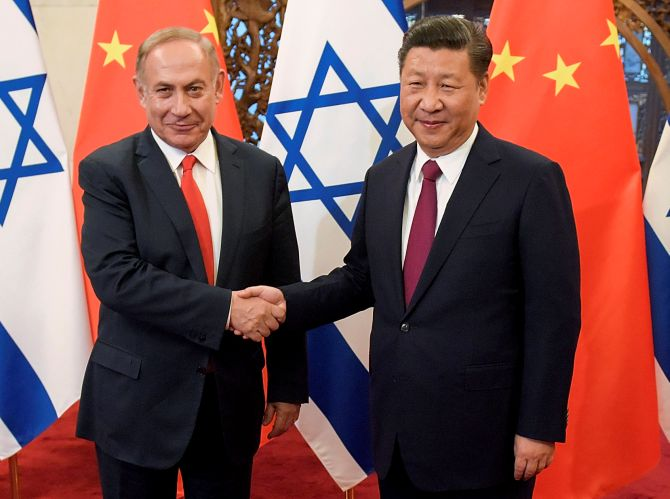 Now, China's relations with Israel nosedive