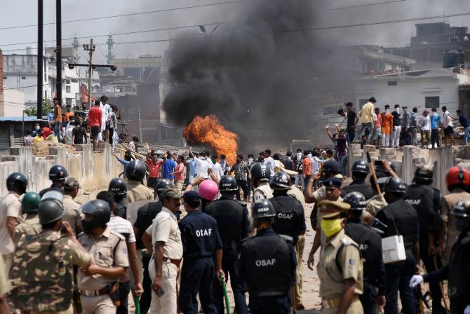 Fed up of containment zone tag, Odisha mob runs riot
