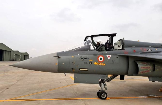 IAF chief flies Tejas as IAF inducts 2nd LCA squadron