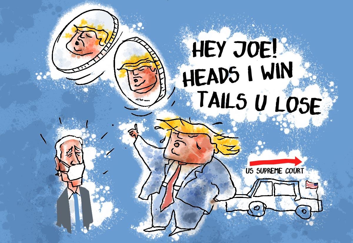 Dom's Take: Prez Trump: Heads I Win, Tails U Lose