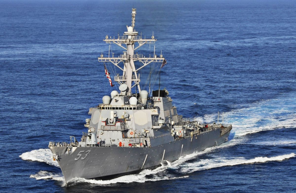 America's message to India in a warship