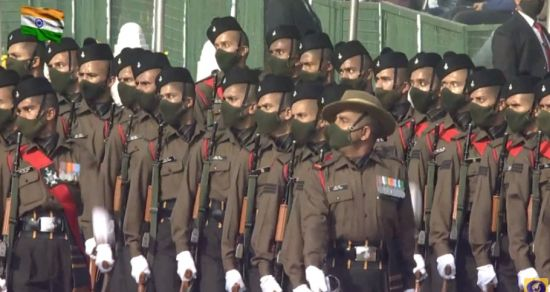 The marching contingent Garhwal Rifles is led by Captain Rajpoot Saurabh Singh of 17th Battalion