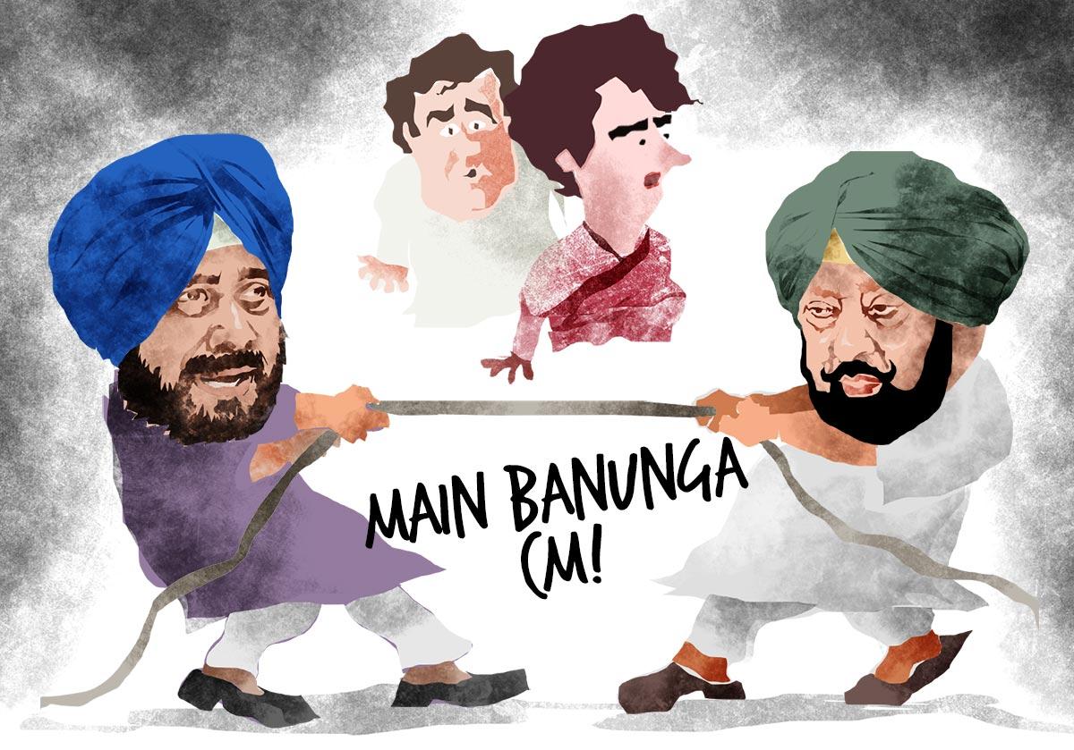 Amarinder Singh: 0 Sidhu: 1