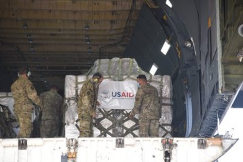 The 5th consignment of US aid reaches Delhi