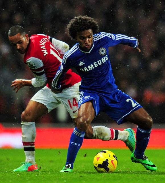 Willian form may trigger Mata's Chelsea exit