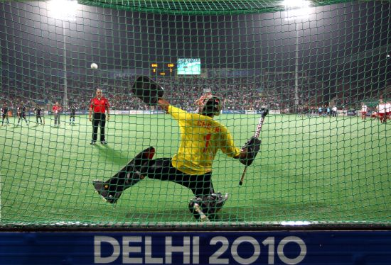 Bharat Kumar Chetri of India fails to save in the penalty shoot-out