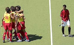 Spain celebrate their victory