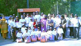 Winners with children from Snehasadan