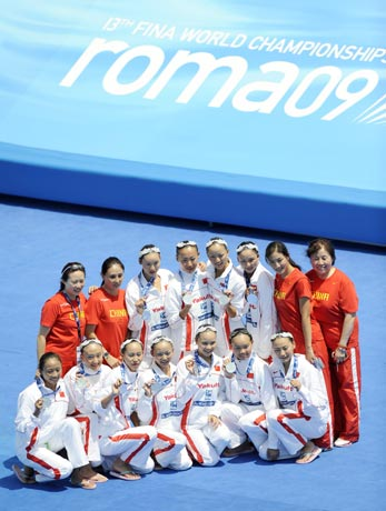 Team China came second
