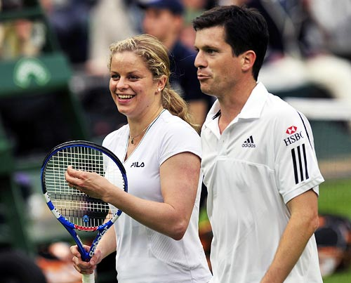 Tim Henman and Kim Clijsters