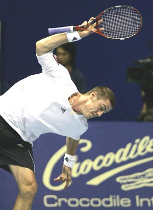 Temperamental Safin's show of discontent with the chair umpires and with himself are well documented